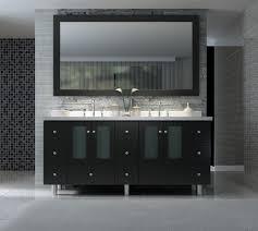 Luxury Bathroom Vanities by Ace Americano 73 Inch Double Sink Bathroom Vanity Set In Black Finish