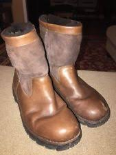 s ugg australia brown leather boots ugg beacon waterproof leather boots s 11 obsidian brown