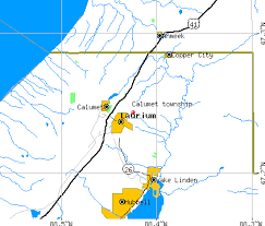 map of calumet michigan calumet township houghton county michigan mi detailed profile