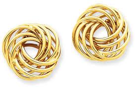 yellow gold earrings 14k yellow gold knot earrings