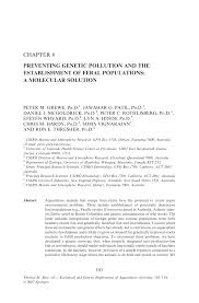 preventing genetic pollution and the establishment of feral