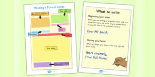 writing a formal letter prompts writing a formal letter