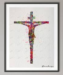 aliexpress com buy diy original watercolor jesus on the cross