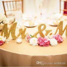 mr mrs wedding table decorations 2018 gold mr mrs letters wedding table decoration freestanding