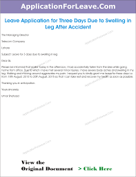 College Application Letter For Leave Leave Application Due To Swelling Png