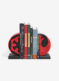star wars imperial and rebel emblem bookends boxlunch