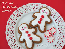 Easy No Bake Christmas Gingerbread Cookies Party Pinching