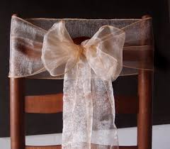 wedding chair bows organza chair sashes bows table runners 6 5in x 9ft 10