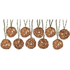 copper globe string lights shop portfolio 8 5 ft 10 light white textured bamboo shade plug in