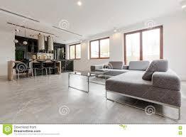 Wohnzimmerm El Luxus Stilvolles Wohnzimmer Kombiniert Mit Küche Stockfoto Bild 82541290