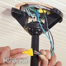 how to wire a ceiling fan to a wall switch how to install ceiling fans the family handyman