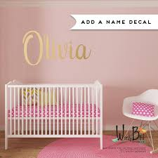 monogram wall decals for nursery custom name decal for nursery fancy name decal gold baby