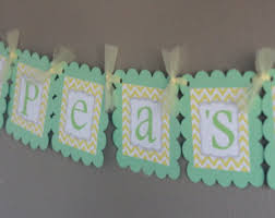 two peas in a pod baby shower decorations two peas baby shower etsy