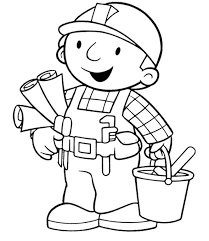 bob the builder an architect building coloring page coloring