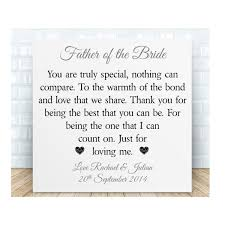 personalised father of the bride groom wooden plaque