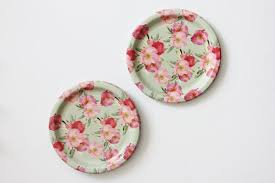 8 floral tea party paper plates parisian vintage style shabby chic