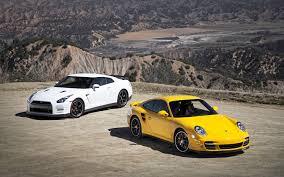 nissan 350z quad turbo 2013 nissan gt r black edition vs 2012 porsche 911 turbo s