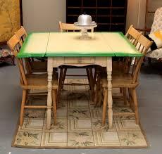 Vintage Enamel Top Kitchen Cabinet by Found In Ithaca Vintage Green U0026 Yellow Enamel Top Dropleaf Table