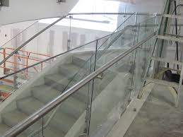 curved staircase custom fabrication for commercial architecture