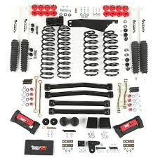 lift kits for jeep wrangler rugged ridge 18415 60 4 inch lift kit with shocks 07 15 jeep