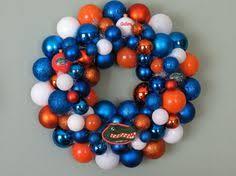 of florida gators glass ornament orange and blue