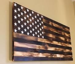 burnt wooden american flag by countryboycraftin on etsy country