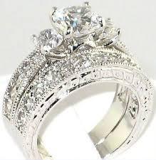 fancy wedding rings antique cz engagement ring ebay
