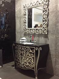 Antique Bathrooms Designs Antique Bathroom Vanities Ideas In Black Lacquered Wooden Console