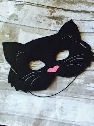 black cat felt mask dress up toddler mask preschool kid