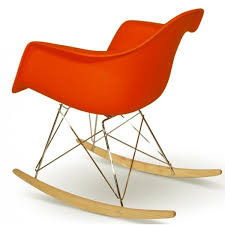 Eames Inspired Rocking Chair Buy Eames Style Orange Plastic Retro Rocking Chair From Fusion Living
