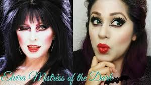 Halloween Makeup For Dark Skin by Elvira Mistress Of The Dark Halloween Makeup Youtube