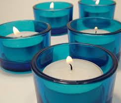 blue tea light candles blue glass tea light candle holders candleholders pinterest