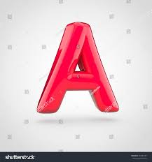 Red Paint by Glossy Red Paint Letter Uppercase 3d Stock Illustration 594781583