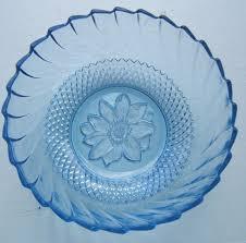 kig indonesia modern light blue art glass serving salad fruit