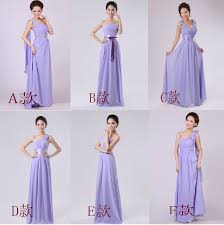 wholesale lavender bridesmaid dresses long chiffon formal wedding