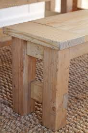Plans For Building A Wood Bench by Diy Farmhouse Bench Love Grows Wild