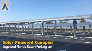 Solar Canopy by Tampa Electric Solar Canopies Added To Legoland Florida Parking