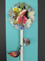 recycled magazine flowers teachkidsart