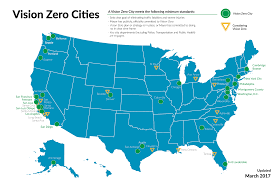 Washington Map With Cities by Vision Zero Cities U2013 Vision Zero Network