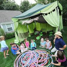Backyard Games For Toddlers by Backyard Camping Themed Birthday Party