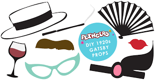 Photo Booth Prop Flingers Party Shop Blog Free Gatsby Photobooth Prop Box