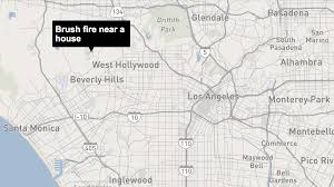 Los Angeles Fires Map by Brush Fire Near Beverly Hills Prompts Street Closures La Times