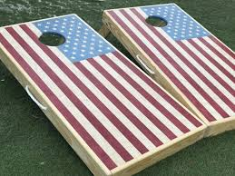 Design Of American Flag Stained Red White And Blue American Flag Board Sets