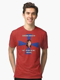 Facebook Girl Meme - facebook girl meme tri blend t shirt by 305movingart redbubble