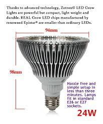 Bulbs For Zotron Led Grow Light 24w Newest 3rd Generation Growing Led Light