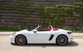 porsche boxster 2016 interior 2017 porsche 718 boxster in depth model review car and driver