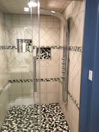 sliced bali turtle pebble tile shower and accents subway tile outlet