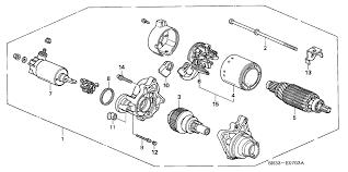 starter on honda civic 31200 p03 902 genuine honda starter motor assy sm 302 44
