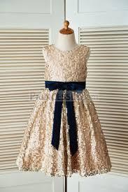 navy flower dress gold top first communion dresses toddler