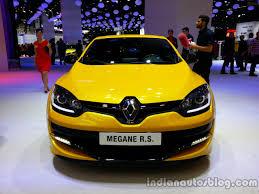 renault megane 2014 front of the 2014 renault megane rs indian autos blog